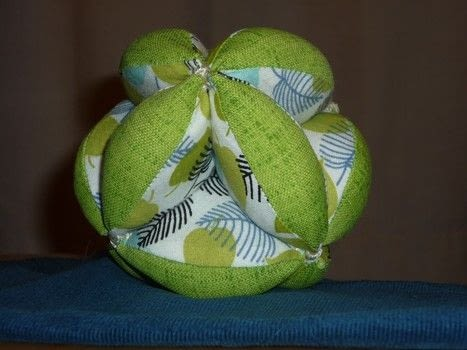 Babies first ball .  Make a toy ball in under 180 minutes by sewing Inspired by baby showers and toys. Creation posted by Rosalie T.  in the Sewing section Difficulty: Simple. Cost: Absolutley free.