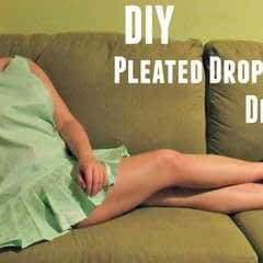 Diy Drop Waist Pleated Dress