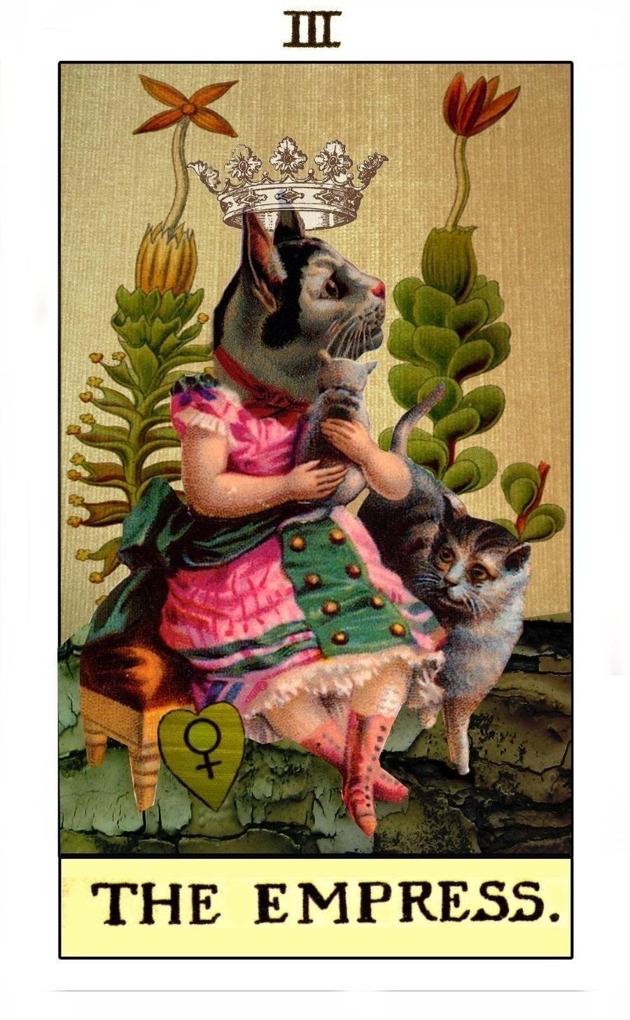 The Empress: Original Tarot Deck · A Collages · Art On Cut
