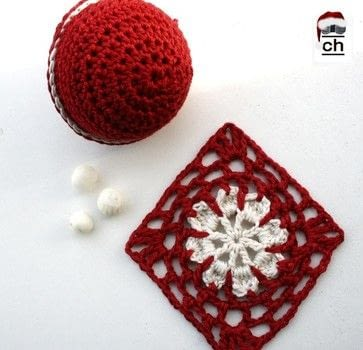 Christmas ornament .  Free tutorial with pictures on how to crochet a granny square in under 20 minutes using cotton yarn. Inspired by christmas. How To posted by Nela T.  in the Yarncraft section Difficulty: Simple. Cost: No cost. Steps: 3