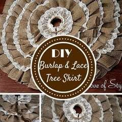 Diy No Sew Burlap And Lace Christmas Tree Skirt