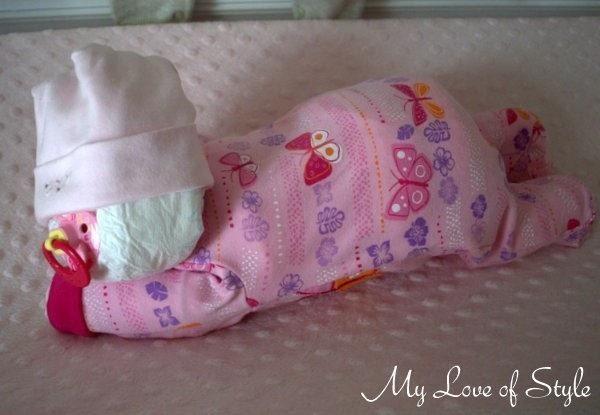 Sleeping Baby Diaper Cake Tutorial 183 How To Make A Diaper