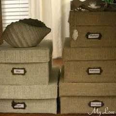 Diy Burlap Storage Boxes