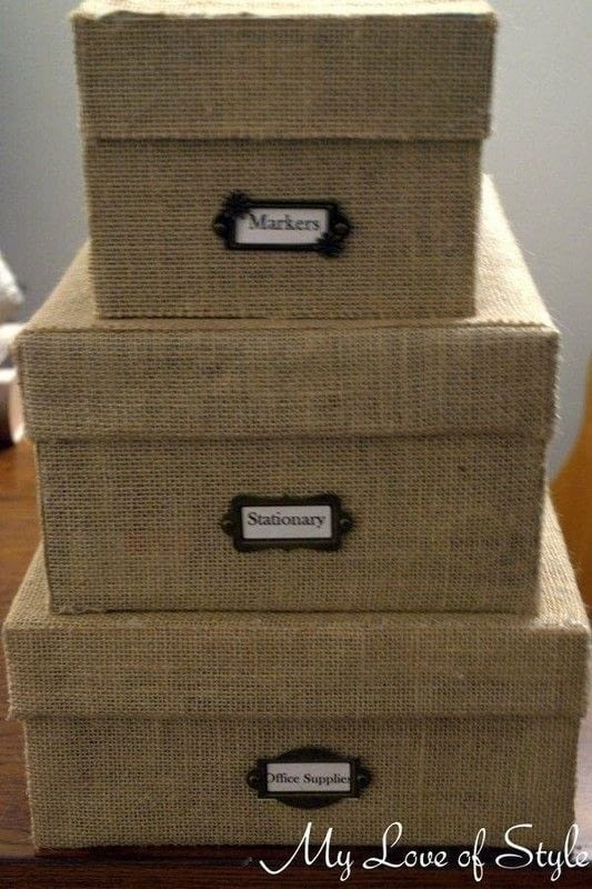 Diy Burlap Storage Boxes 183 How To Embellish A Fabric