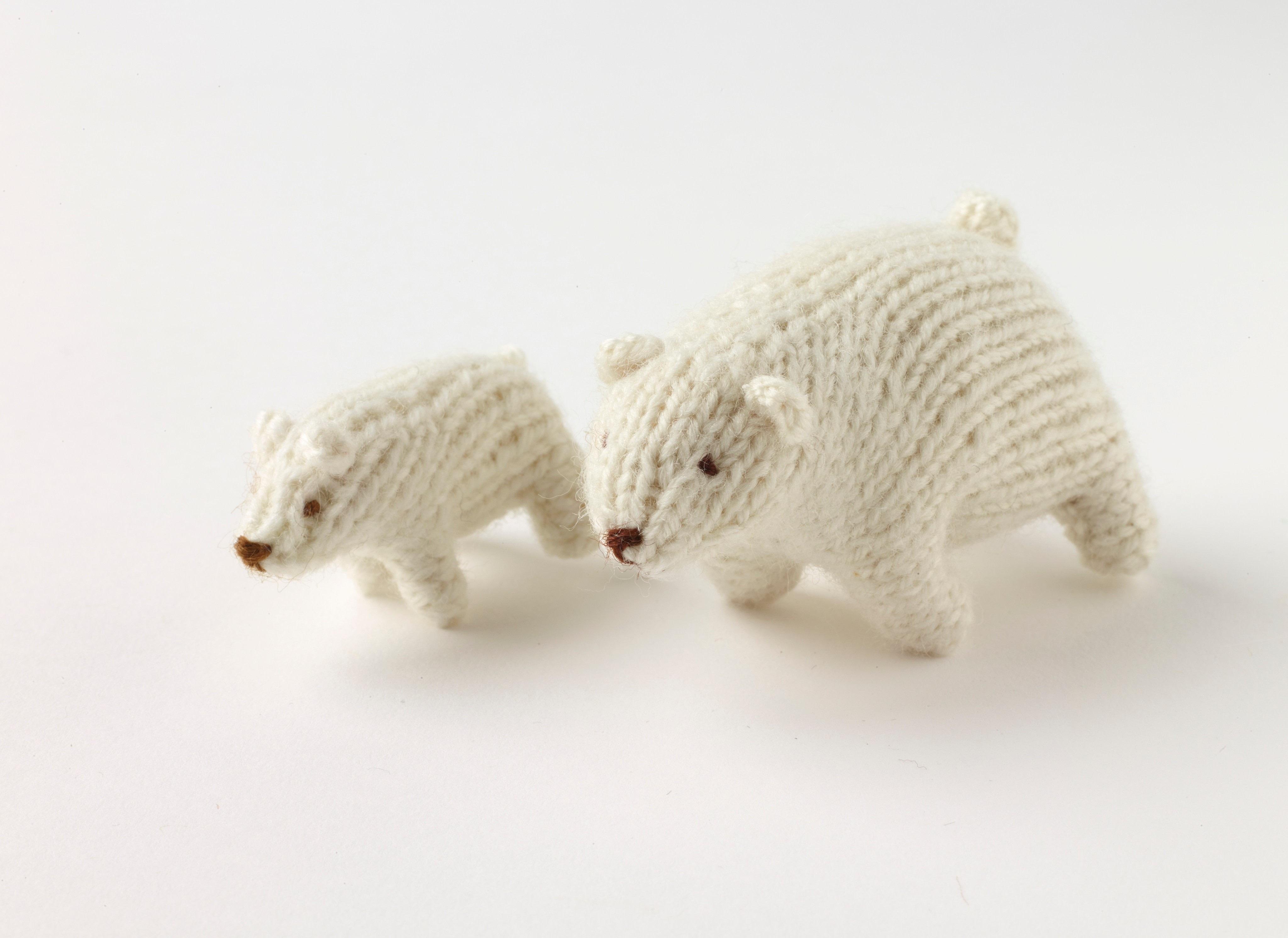 Polar Bear 183 Extract From Mini Knitted Safari By Sachiyo