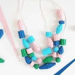 How To Make A Fun And Easy Colorful Corrugated Paper Bead Necklace