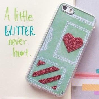 A little glitter never hurt .  Free tutorial with pictures on how to make a glitter case in under 15 minutes by decorating with scissors, paint brush, and decoupage glue. How To posted by Mui Hong A.  in the Decorating section Difficulty: Easy. Cost: Absolutley free. Steps: 5