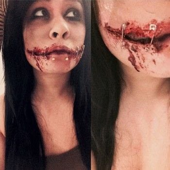 Say cheese~ .  Create a cut / gash in under 20 minutes using liquid latex, cotton wool, and tissues. Creation posted by .  in the Beauty section Difficulty: Easy. Cost: Cheap.