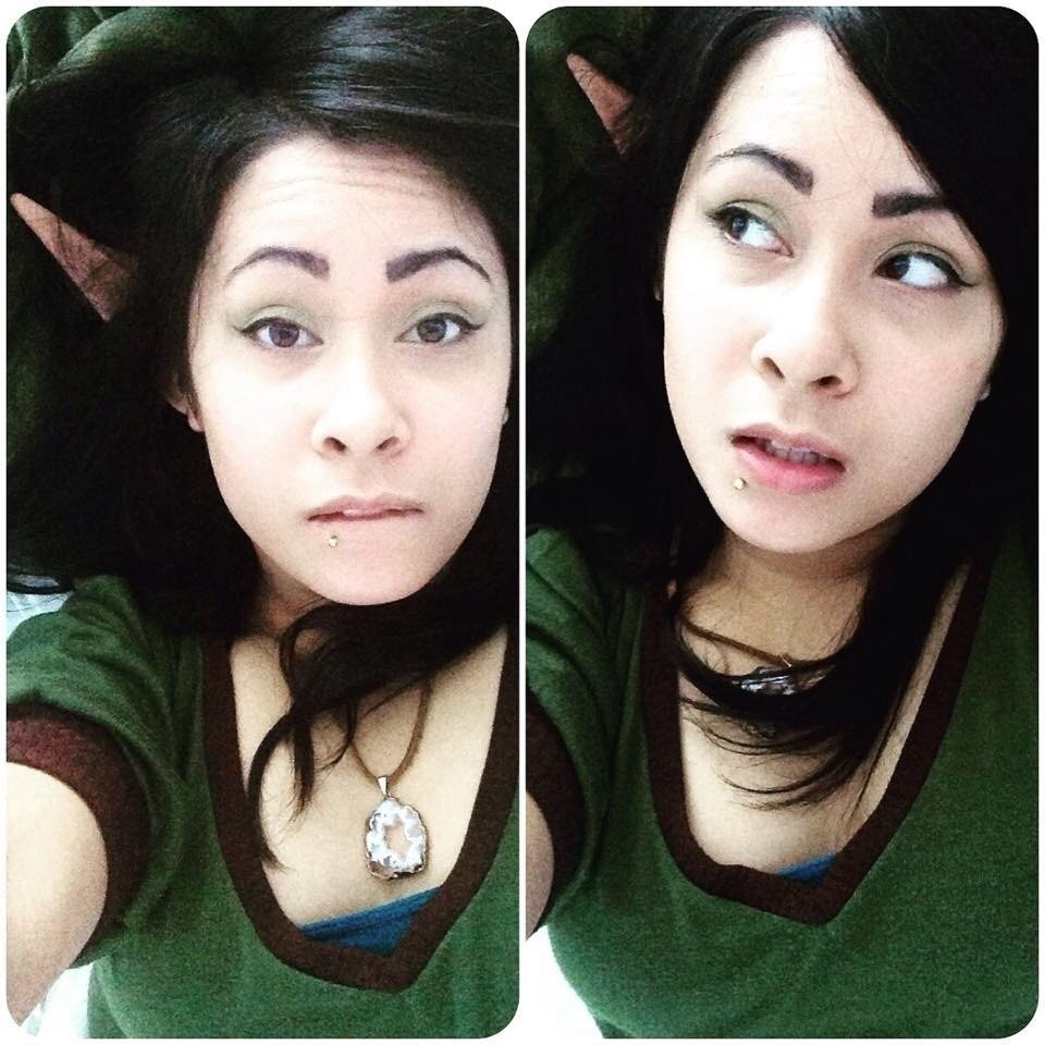Create a green eye makeup look ...