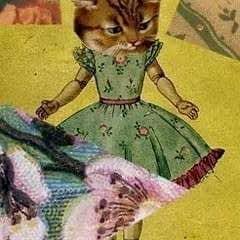 Paper Collage Cat