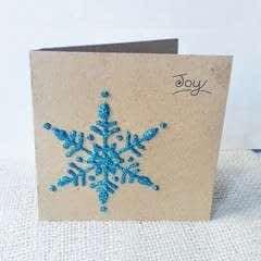 DIY Snowflake Christmas Card