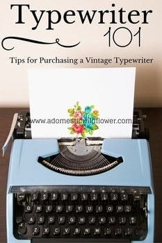 Typewriter 101: Tips for Purchasing a Vintage Typewriter .  Free tutorial with pictures on how to make a techniques in under 60 minutes using tyepwriter. How To posted by adwildflower.  in the Home + DIY section Difficulty: Easy. Cost: No cost. Steps: 10