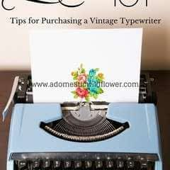 Tips For Purchasing A Vintage Typewriter