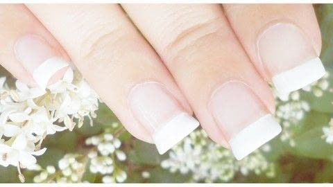 Grow natural nails at home! .  Free tutorial with pictures on how to paint a French tip in under 60 minutes using coconut oil, extra virgin olive oil, and nail polish. Inspired by healthy. How To posted by Jennifer R.  in the Beauty section Difficulty: Easy. Cost: Cheap. Steps: 1