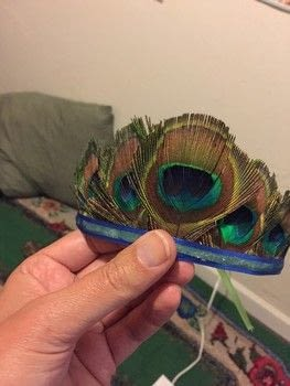 Because yes, you should wear a tiara every day .  Free tutorial with pictures on how to make a hat / a piece of headwear in under 20 minutes using peacock feather, hot glue gun, and hot glue gun sticks. How To posted by Nimcraft.  in the Other section Difficulty: Easy. Cost: Cheap. Steps: 6