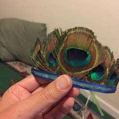Peacock Feather Tiara
