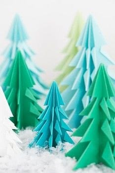 A festive and creative Christmas craft that you can use to decorate with for the holidays. .  Free tutorial with pictures on how to fold an origami tree in under 60 minutes by paper folding with scissors and paper. How To posted by Eden  P.  in the Papercraft section Difficulty: Easy. Cost: Absolutley free. Steps: 8