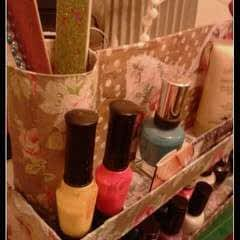 Decoupage Carousel Display for Nail Varnishes