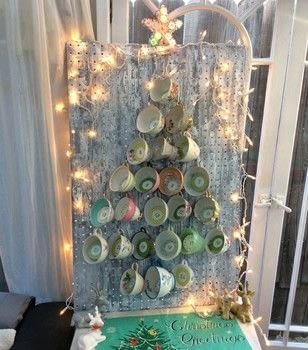 Countdown to Christmas with a cup of tea each day to relax and reflect .  Make an advent calendar in under 60 minutes using cups and peg board. Inspired by christmas and tea cup. Creation posted by PlaidCrafter.  in the Other section Difficulty: Easy. Cost: No cost.