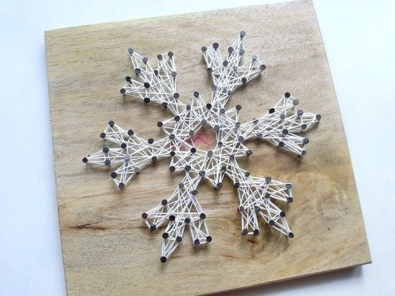 Diy Snowflake String Art 183 How To Make String Art 183 Home Diy On Cut Out Keep