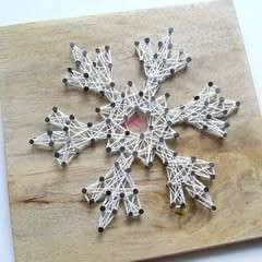 Diy Snowflake String Art