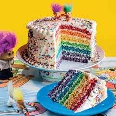 Rainbow Pop Celebration Cake