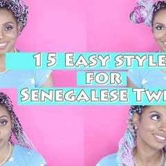 How To Style Braids Or Senegalise Twist!
