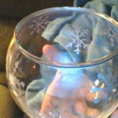 Winter Snowflake Candy Bowl