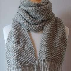 Elegant Seed Stitch Scarf Knitting Pattern