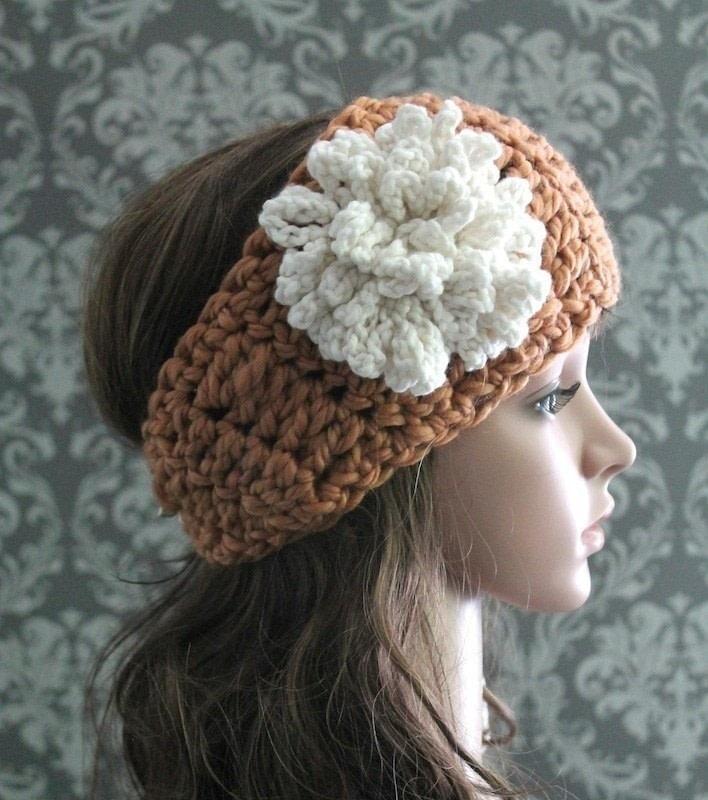 Crochet Headband Loopy Flower How To Make Ear Muffs Yarncraft