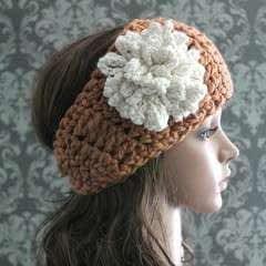 Crochet Headband & Loopy Flower