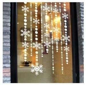 Make Wonderful Snowflake Curtains In Just A Few Minutes Window Decoration