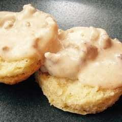 Southern Sausage Gravy Biscuits