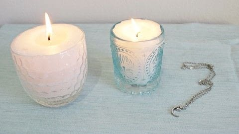 Hide a gift inside a candle! .  Free tutorial with pictures on how to make a candle in under 180 minutes using candle, tin foil, and containers. How To posted by Lauren.  in the Other section Difficulty: 3/5. Cost: 3/5. Steps: 1