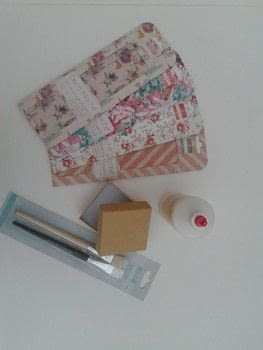 Decoupage a gift box with Trimcraft .  Free tutorial with pictures on how to make a decoupage box in under 60 minutes by decorating and decoupaging with deco maché, gift box, and brushes. How To posted by laura_southpaw.  in the Papercraft section Difficulty: Simple. Cost: Cheap. Steps: 6