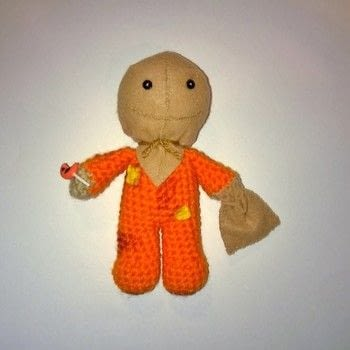 Sam from Trick r Treat .  Sew a movie plushie in under 180 minutes using yarn, crochet hook, and felt. Creation posted by Carol S.  in the Yarncraft section Difficulty: 3/5. Cost: Cheap.