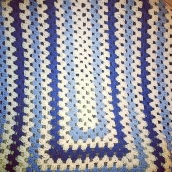 Granny blanket .  Crochet a granny square blanket using yarn and crochet hook. Creation posted by Carol S.  in the Yarncraft section Difficulty: Simple. Cost: 3/5.