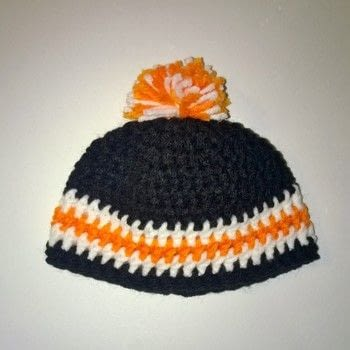 Crocheted baby hats .  Make a baby hat in under 120 minutes using yarn, crochet hook, and fleece. Creation posted by Carol S.  in the Yarncraft section Difficulty: Easy. Cost: Cheap.