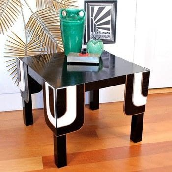 Turn a cheap Ikea table into a showstopper! .  Free tutorial with pictures on how to make a painted table in 3 steps by constructing and woodworking with sand paper, gloss, and table. How To posted by Mark Montano.  in the Home + DIY section Difficulty: 3/5. Cost: 3/5.