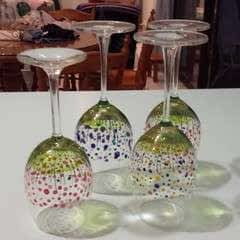 Floral Wine Glasses
