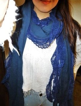 Gettin' funky with some leftover fabric. .  Make a fabric scarf in under 60 minutes using sewing machine, sewing pins, and jersey. Creation posted by Rachel's Craft Channel.  in the Sewing section Difficulty: Simple. Cost: No cost.