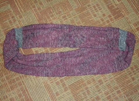 A great winter scarf! .  Make a circle scarf in under 90 minutes using sweater, serger, and sewing pins. Creation posted by Rachel's Craft Channel.  in the Sewing section Difficulty: Easy. Cost: Absolutley free.