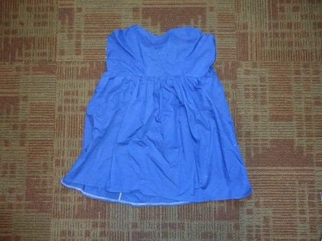 I made a blue dress years ago and recently refashioned it. .  Make a recycled top in under 60 minutes using dress, sewing machine, and scissors. Creation posted by Rachel's Craft Channel.  in the Sewing section Difficulty: Easy. Cost: No cost.
