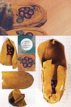 Make your own Maskasina/Moccasins .  Free tutorial with pictures on how to make a pair of mocassins in under 120 minutes by beading, embellishing, sewing, hand sewing, and machine sewing with leather, fur, and fleece. Inspired by creature comforts, flowers, and shoes. How To posted by Falene M.  in the Sewing section Difficulty: 3/5. Cost: 3/5. Steps: 7