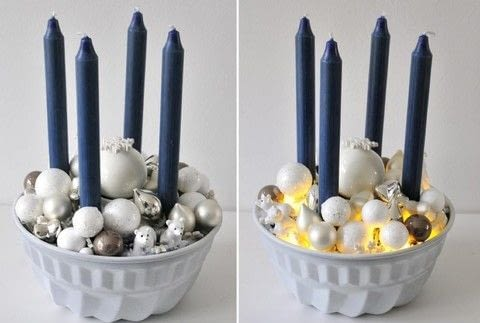 Beautiful advent wreath in a baking tin .  Free tutorial with pictures on how to make a wreath in under 30 minutes using baking tin, candle, and sand. Inspired by christmas. How To posted by miss red fox.  in the Home + DIY section Difficulty: Easy. Cost: Absolutley free. Steps: 3