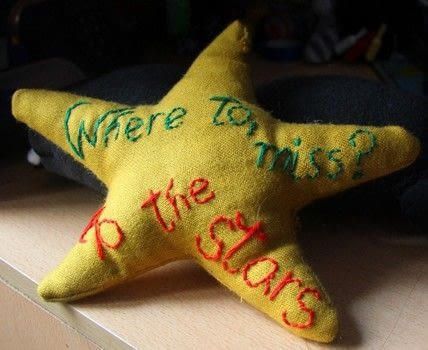 Star titanic plushie .  Free tutorial with pictures on how to make a shape plushie in 4 steps by embroidering, sewing, and hand sewing with fabric, fibre, and threads. How To posted by Alma .  in the Needlework section Difficulty: Easy. Cost: Cheap.