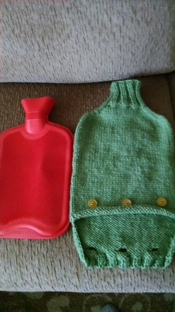 Knitting Pattern Hot Water Bottle Cozy ? How To Make A Hot Water Bottle ? Yar...