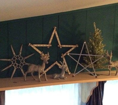 A fun way to use office and school supplies to decorate .  Make wall decor in under 60 minutes using scissors, ruler, and folders. Inspired by christmas. Creation posted by PlaidCrafter.  in the Decorating section Difficulty: Easy. Cost: No cost.