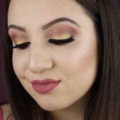 Warm Glitter Holiday Glam Makeup Tutorial