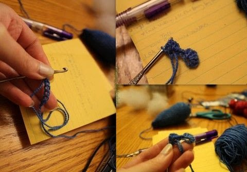 Mini Yarn Skein Fun .  Free tutorial with pictures on how to make a narwhal plushie in under 180 minutes by yarncrafting, crocheting, and amigurumi with crochet hook, yarn, and polyfill. Inspired by sealife. How To posted by Chudames.  in the Yarncraft section Difficulty: Simple. Cost: 3/5. Steps: 5